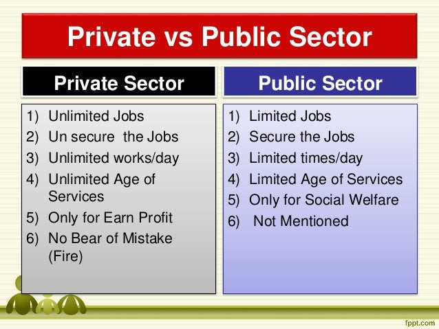 Private versus public