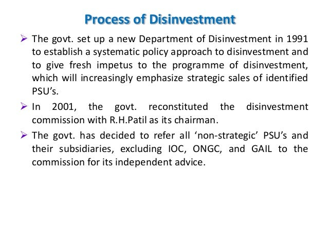 disinvestment and privatisation Privatisation and disinvestment in india - free download as powerpoint presentation (ppt / pptx), pdf file (pdf), text file (txt) or view presentation slides.
