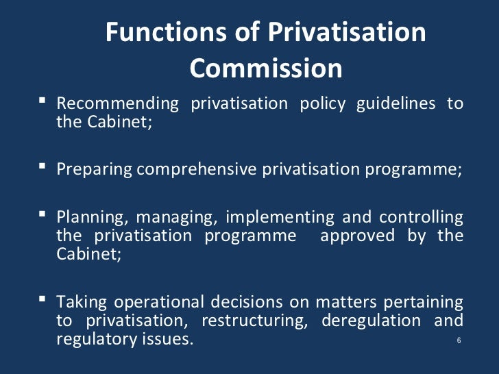 Privatisation of State Owned Enterprises