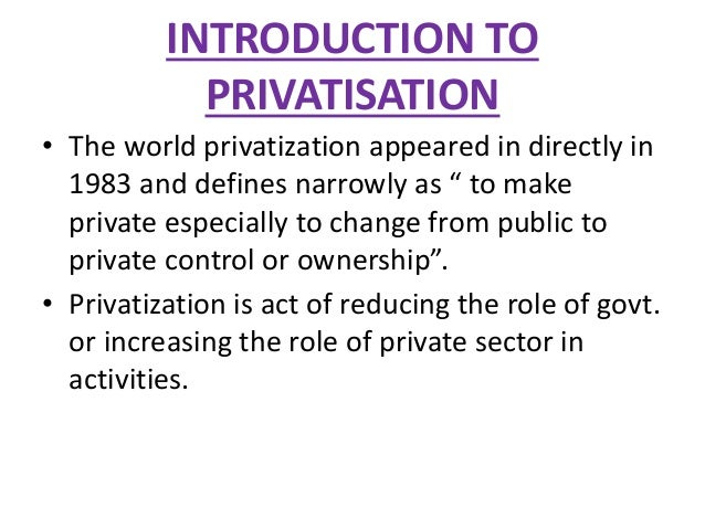 Privatization thesis