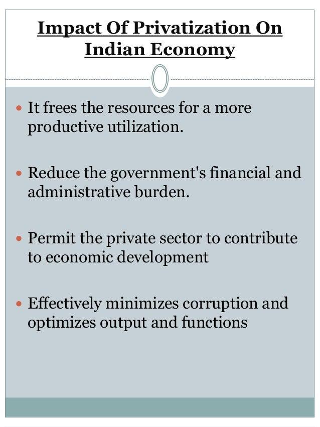 impact of privatisation
