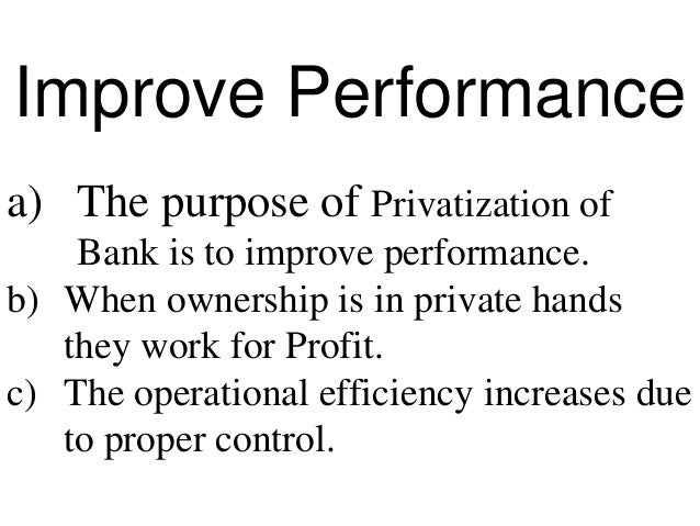 purpose of privatization