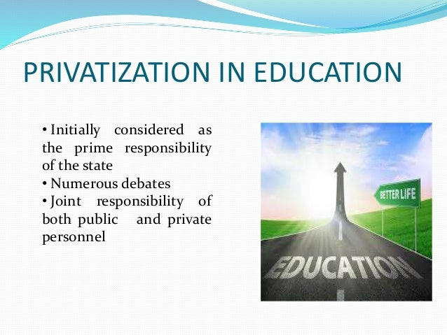 Privatision of education in india