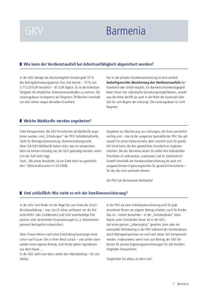 GKV                                                           Barmenia  Wie kann der Verdienstausfall bei Arbeitsunfähigke...