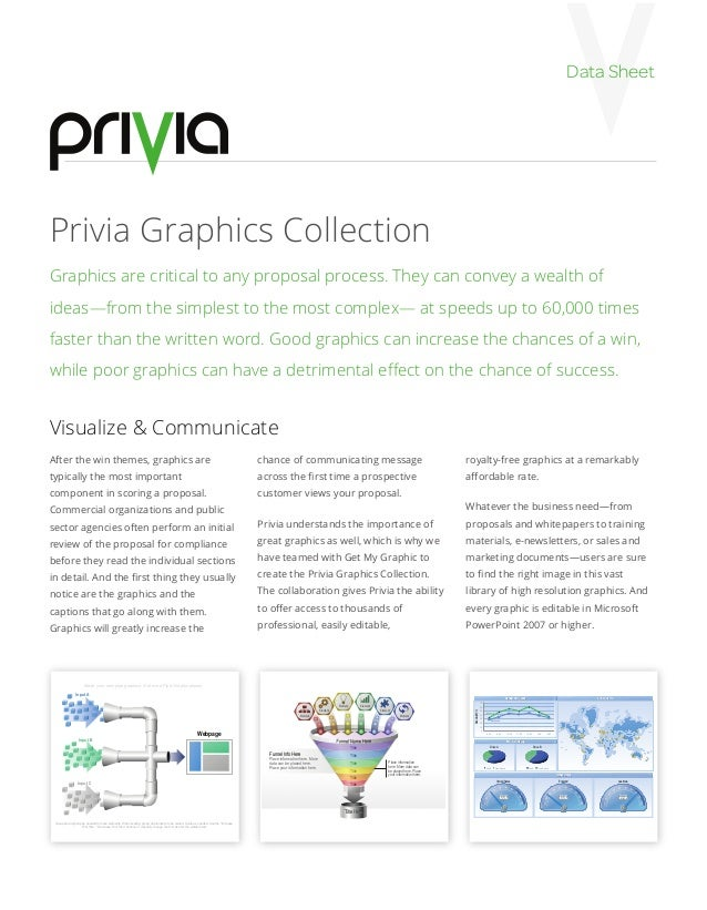 Data SheetPrivia Graphics CollectionGraphics are critical to any proposal process. They can convey a wealth ofideas—from t...
