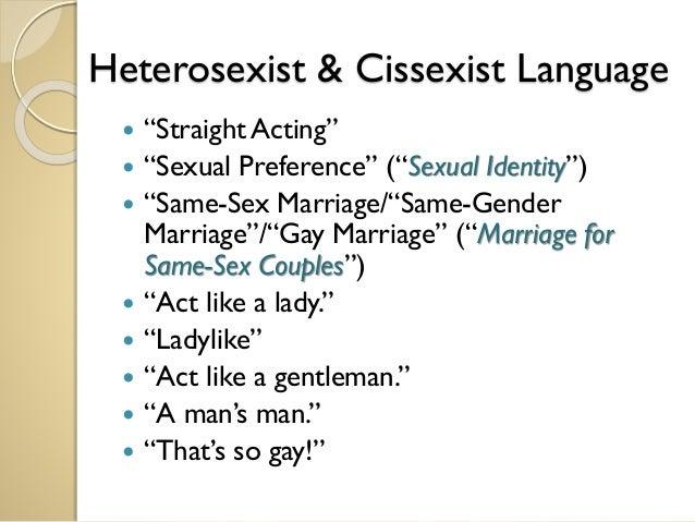 According to hetero dating law