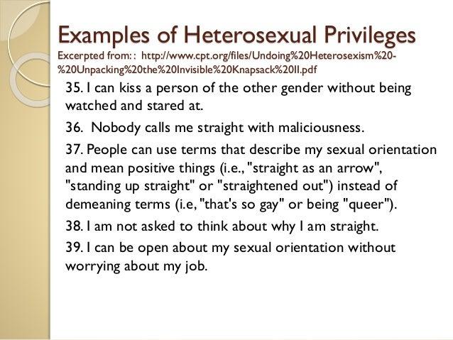 Things nobody says to heterosexuals