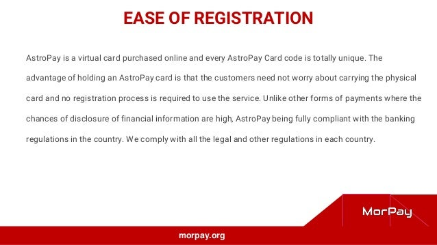 Privileges of Using Virtual Card Like AstroPay
