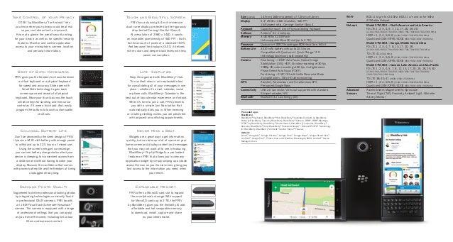 BlackBerry PRIV Brochure