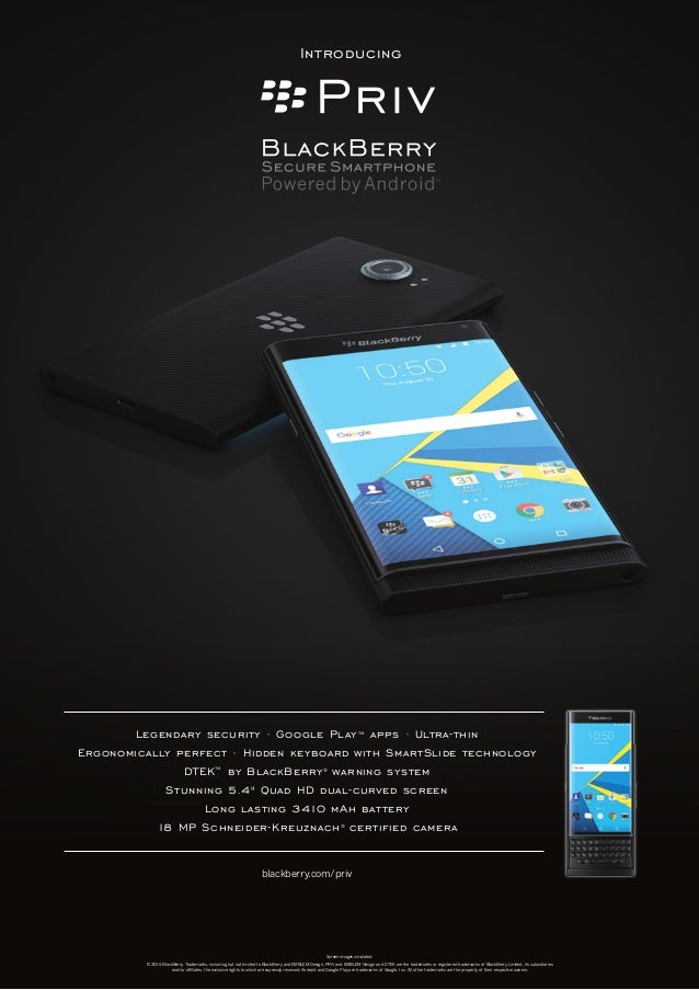 Blackberry Priv Product Posters