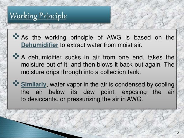 3 Primary Techniques Used in AWG Cooling Condensation AWG Desiccant-Based AWG