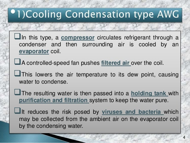 5 Collection Tank Generated Water CondenserAir Filtration Air Water Filtration