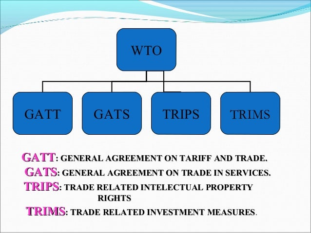 a history of the creation of general agreement on tariffs and trade The general agreement on tariffs and trade (typically abbreviated gatt) was negotiated during the un conference on trade and employment and was the outcome of the failure of negotiating governments to create the international trade.