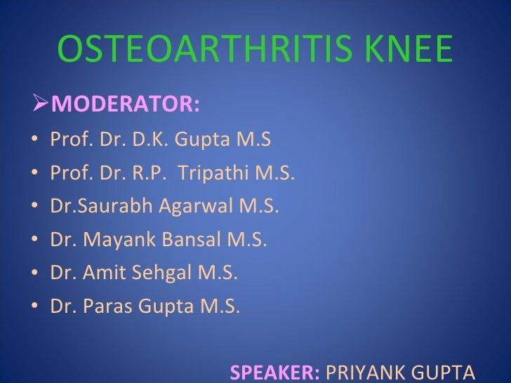 osteoarthritis knee priyank Slide 2