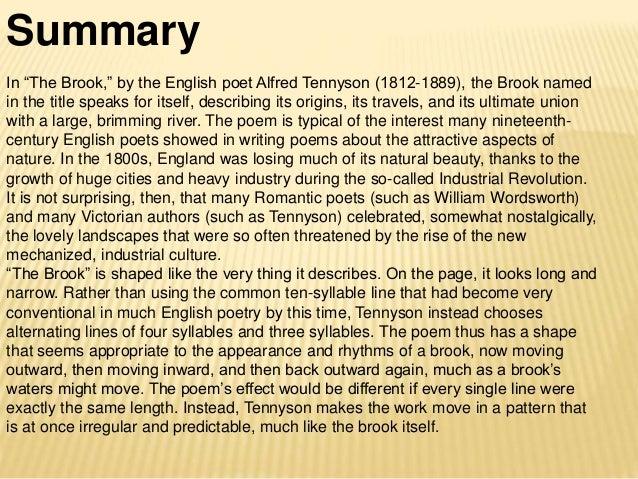 the brook poem summary