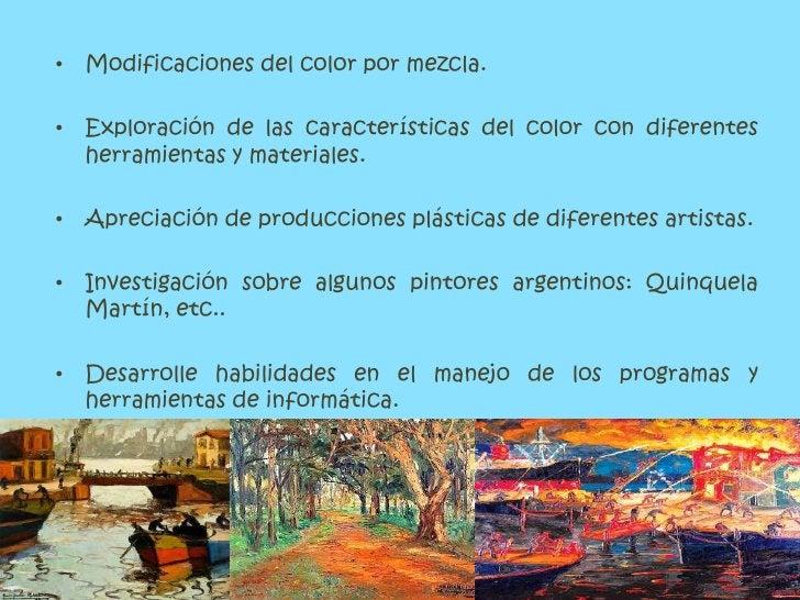 Modificaciones del color por mezcla. <br />Exploración de las características del color con diferentes herramientas y mate...