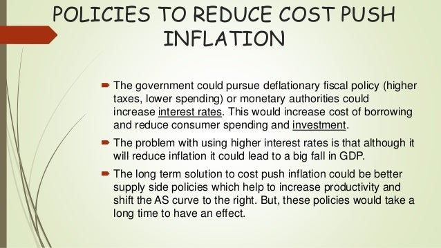 Inflation Cost Push And Demand Pull