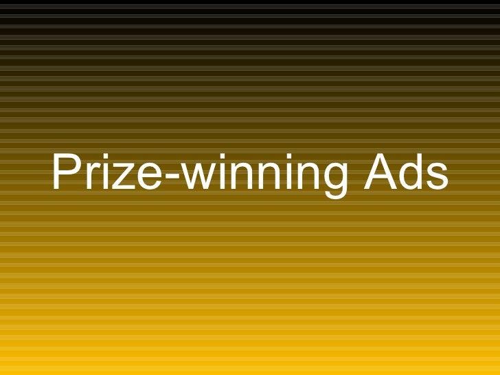 Prize-winning Ads
