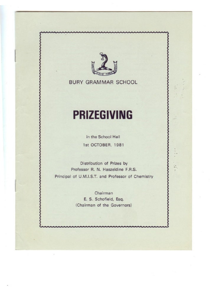 Prize Giving 1981