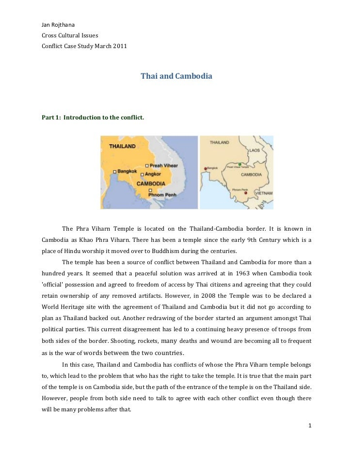Thai and Cambodia<br /><br />Part 1: Introduction to the conflict.<br /> <br />The Phra Viharn Temple is located on t...
