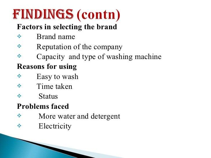 factors determining demand of washing detergent The factors that determine the demand of fast what are the factors that determine the demand of fast moving consumer goods like washing machine detergent.