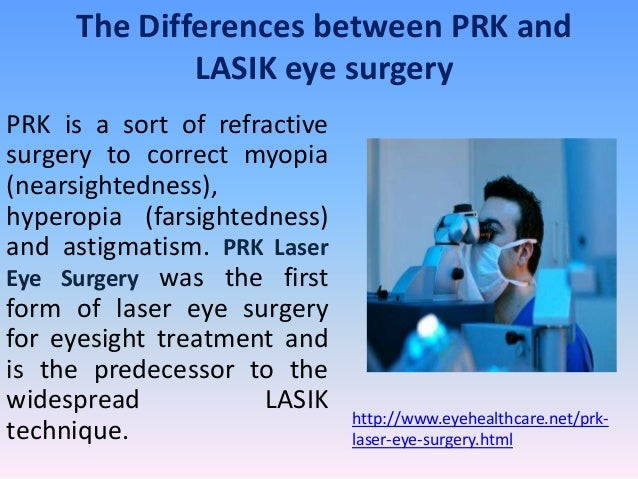 The Differences between PRK and             LASIK eye surgeryPRK is a sort of refractivesurgery to correct myopia(nearsigh...