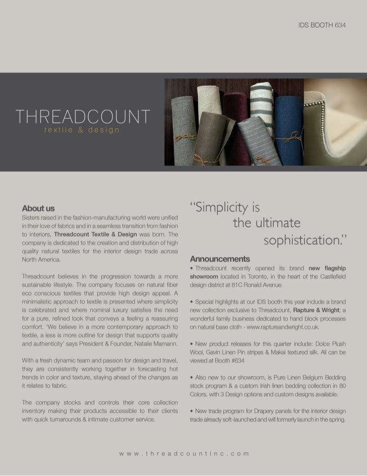 Threadcount IDS 2012 Media Kit