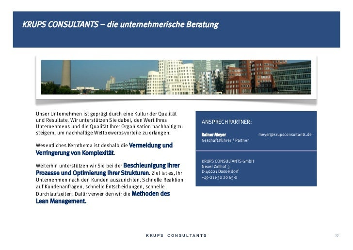 KRUPS CONSULTANTS – die unternehmerische Beratung   Unser Unternehmen ist geprägt durch eine Kultur der Qualität   und Res...