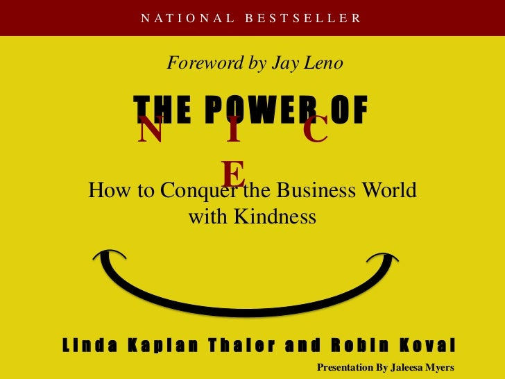 N AT I O N A L B E S T S E L L E R          Foreword by Jay Leno      THE POWER OF      N        I     C              Ethe...