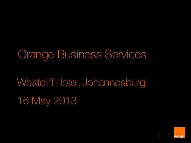 South Africa press event slides