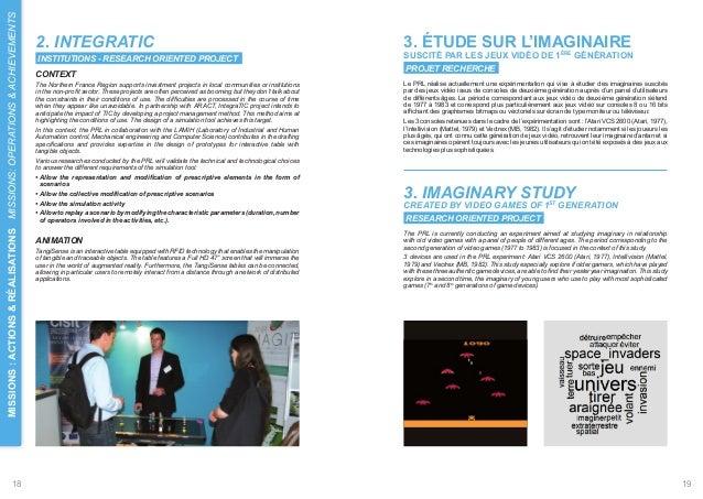 ACHIEVEMENTS  2. INTEGRATIC  3. ÉTUDE SUR L'IMAGINAIRE  INSTITUTIONS - RESEARCH ORIENTED PROJECT  SUSCITÉ PAR LES JEUX VID...