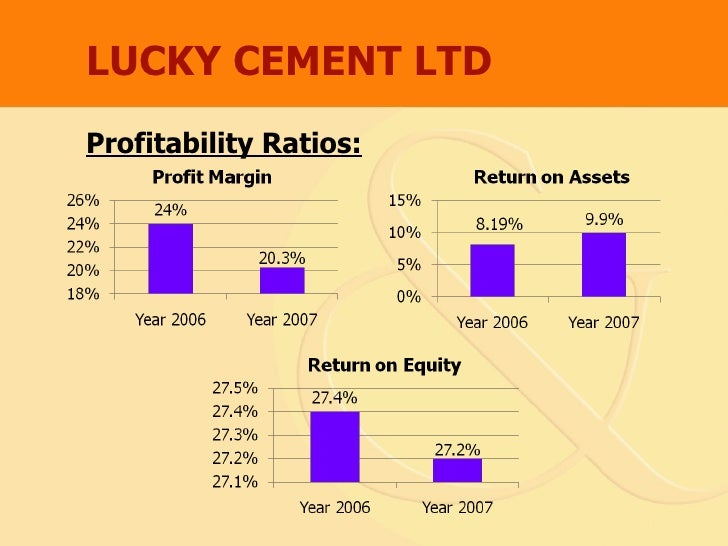 profitability analysis of lucky cement Latest lucky cement share price  ici pakistan limited and lucky electric power company limited  data and analysis contained within this stock report: (a).