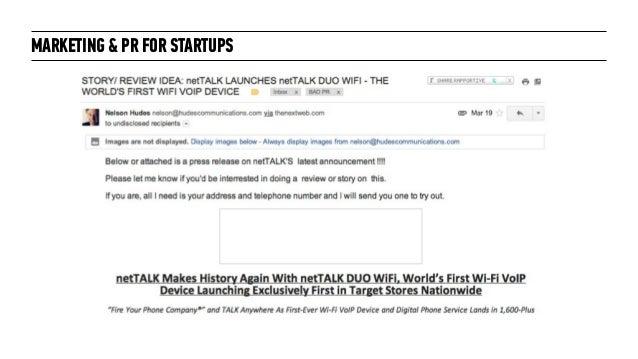 Marketing + PR for Startups: for General Assembly London October 2014 Slide 49