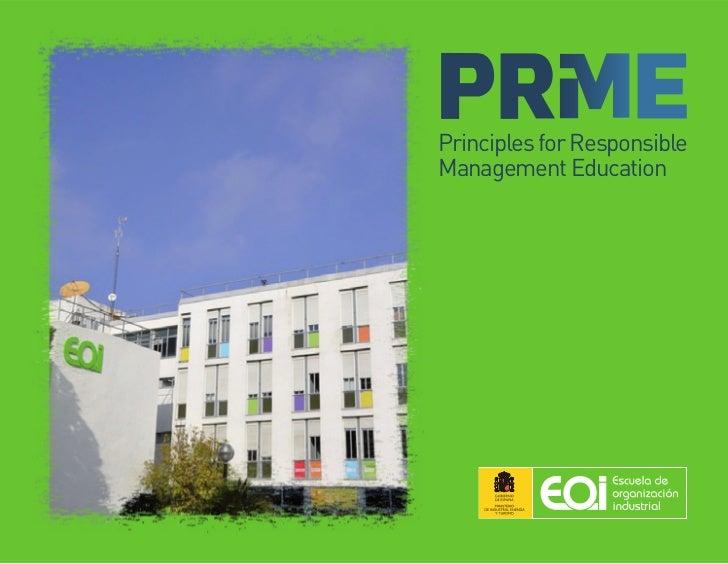 Principles for ResponsibleManagement Education