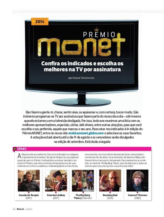 28+Mo net+ABRIL por Raquel Temistocles 2014 Confira os indicados e escolha os melhores na TV por assinatura SÉRIES Adisput...