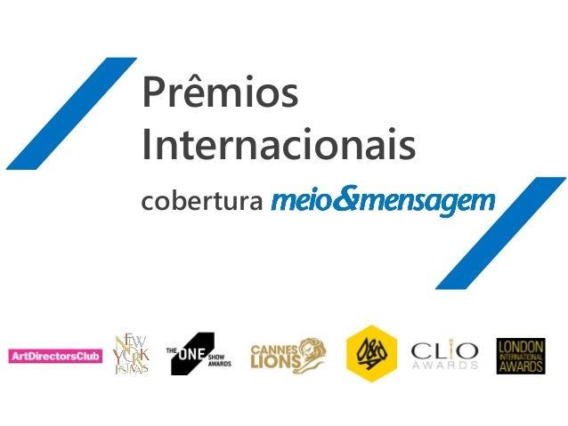 Prêmios Internacionais cobertura