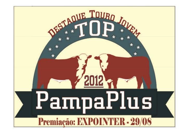 PREMIAÇÃO TOP PAMPAPLUS OBJETIVO       A premiação tem como objetivo destacar os touros jovens Hereford e Braford do relat...