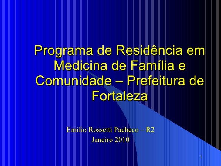 Encontro das Residências - PRM SMS Fortaleza