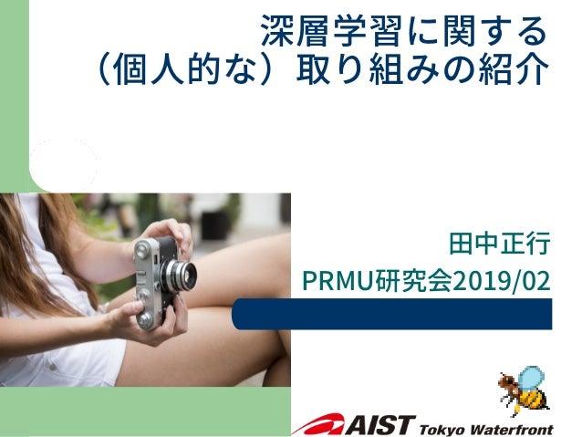 田中正行 PRMU研究会2019/02 深層学習に関する (個人的な)取り組みの紹介