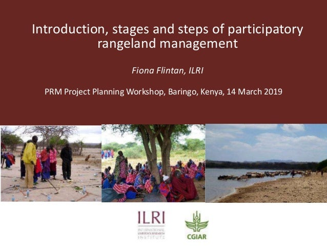 Introduction, stages and steps of participatory rangeland management Fiona Flintan, ILRI PRM Project Planning Workshop, Ba...