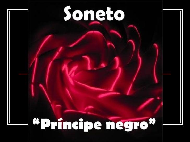 "Soneto "" Príncipe negro"""