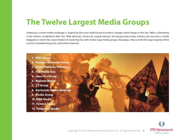 PR Newswire Second Series of the Asian Media Landscape