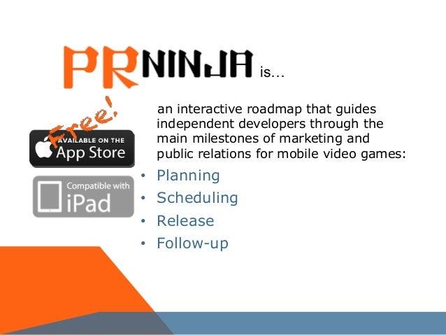 PRninja - interactive roadmap for indie game developers