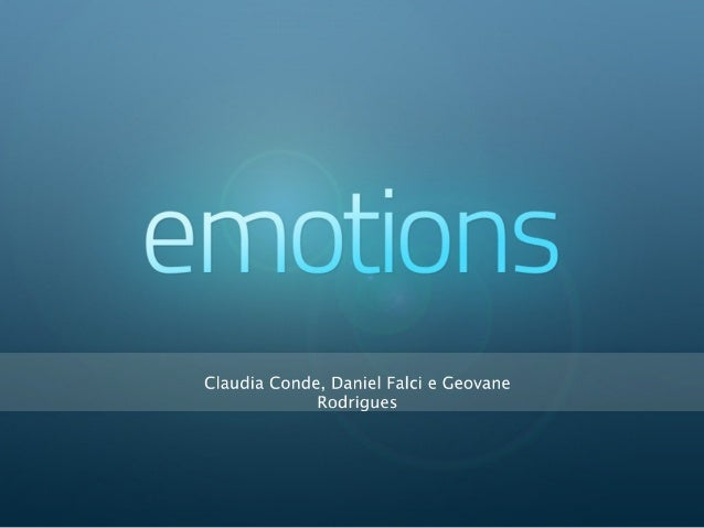 Prototipação - Apresentação do projeto Emotions