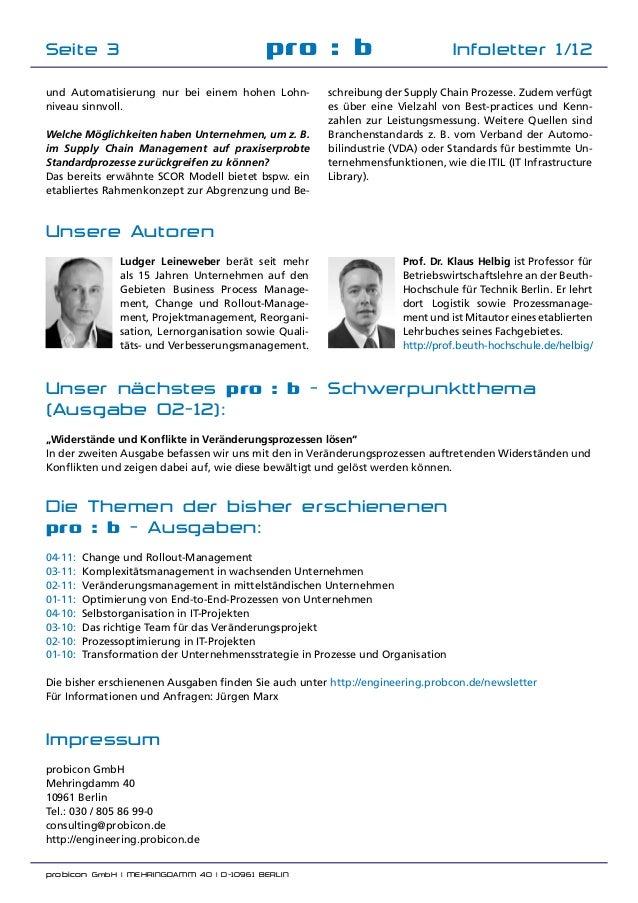 probicon GmbH | MEHRINGDAMM 40 | D-10961 BERLIN  pro : b Infoletter 1/12Seite 3 Unsere Autoren Prof. Dr. Klaus Helbig ist...