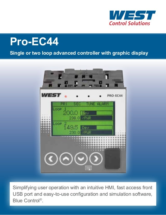 Pro-EC44 Single or two loop advanced controller with graphic display  Simplifying user operation with an intuitive HMI, fa...
