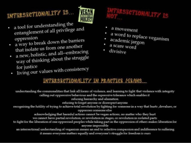 Pro intersectional veganism and what it means to grassroots