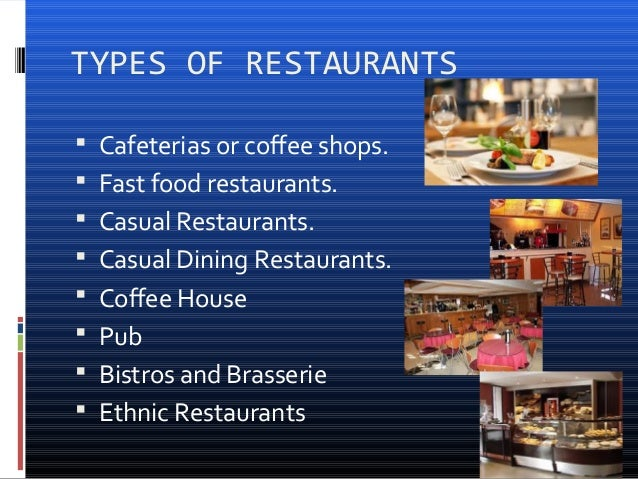 Types Of Food Service In Restaurant