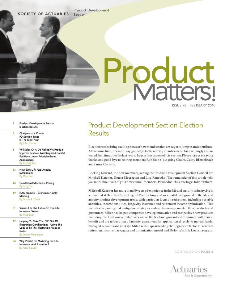 Product Development                                               Section                                                 ...
