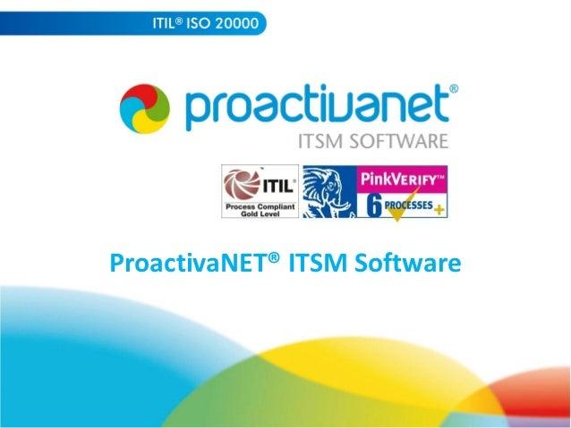 ProactivaNET® ITSM Software